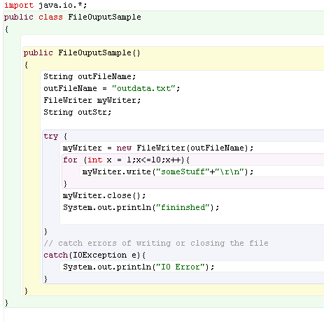 java writing to file This java tutorial describes how to write a string to a file.